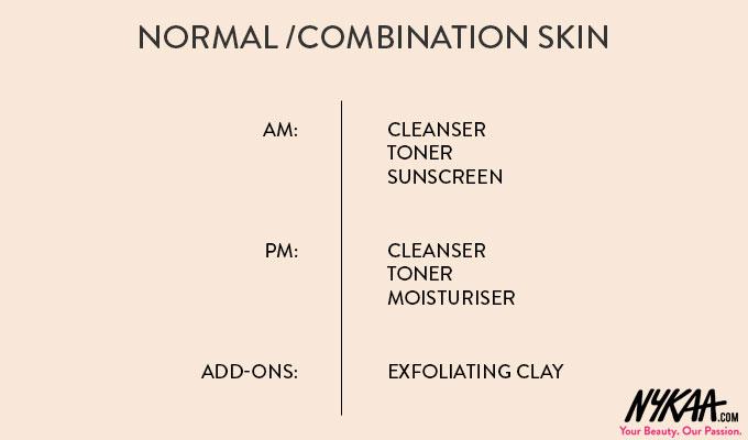 Skincare menu for all skin types| 1
