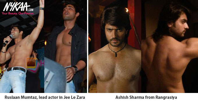 Go shirtless like these TV hunks| 2