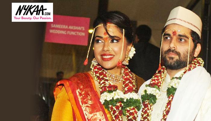 Coy Bride Meets Cool Groom At Sameera Reddy's Nuptials