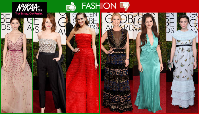 Fashion hits and misses at the Golden Globes
