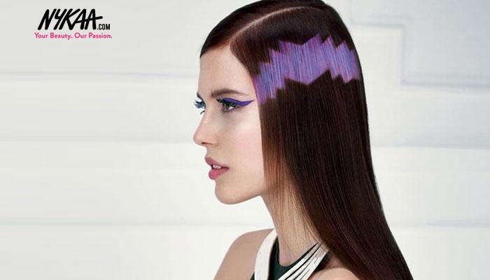 Pixelated hair, the hip new hair trend