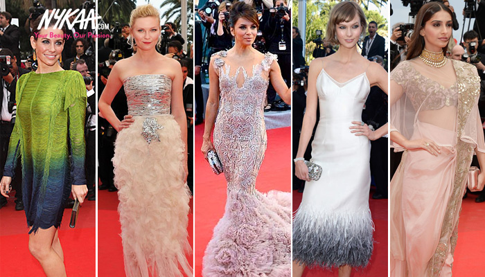 Five stunning years on the Cannes red carpet