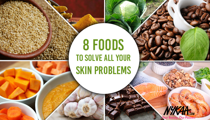 8 foods to solve all your skin problems