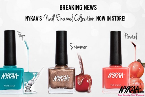 Breaking News: Nykaa's Nail Enamels now in store!