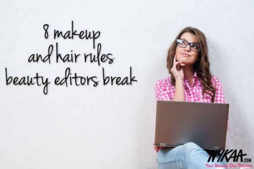 8 makeup and hair rules beauty editors break