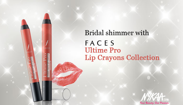 Bridal shimmer with FACES Ultime Pro Lip Crayons Collection