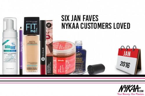 Six Jan faves Nykaa customers loved