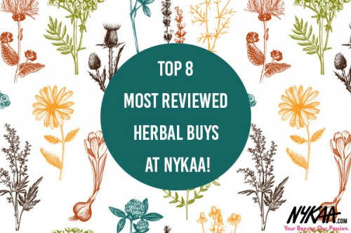 Top 8 most reviewed Herbal buys at Nykaa!