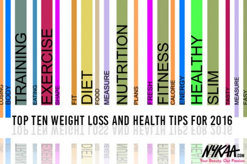 Top Ten weight loss and health tips for 2016