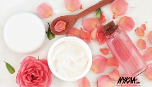 Flawless skin secrets with rosewater