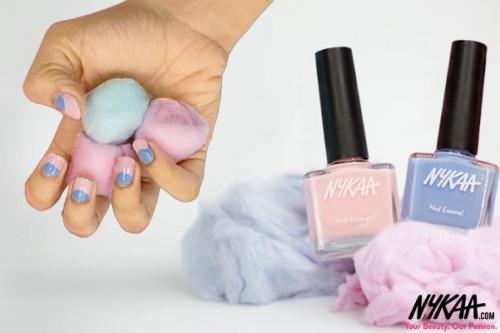 Nail art inspired by Nykaa's Pantone Polish range