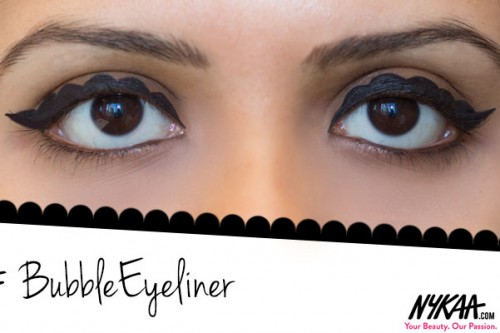 Bubble Eyeliner: Mess up that wing on purpose!