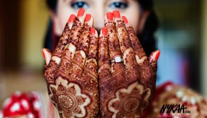 Bridal DIY manicure that doesn't look it!