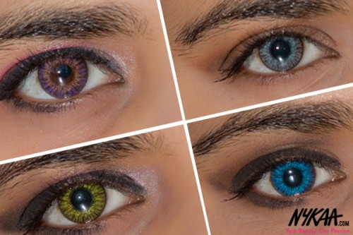 Timeless makeup looks with Freshlook colored lenses!