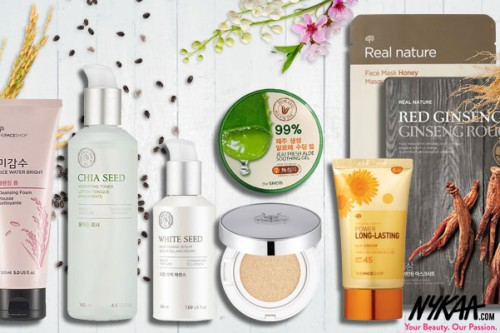 The Face Shop's exquisite range of natural goodies