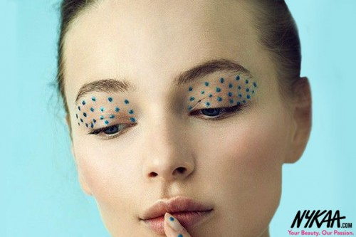 ON POINT The Artsy Makeup Trend Dotting the Runways