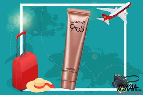 Happy Summer Travels With Lakme 9 to 5 Weightless Mini Mousse Foundation