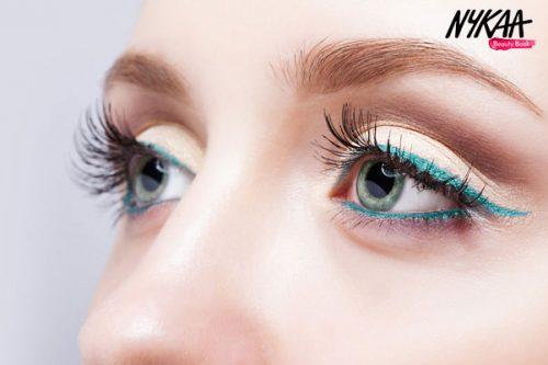 Spring eye makeup only using eyeliners