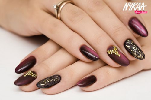Gorgeous Bridal Nail Art Styles For Your D-day