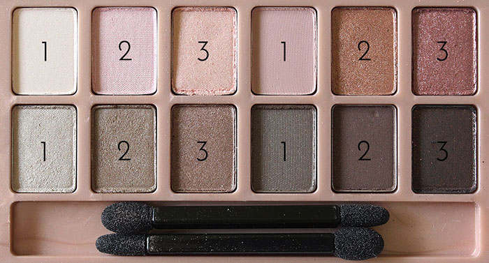 #SwatchAttack:  Maybelline The Blushed Nudes Eyeshadow Palette| 2
