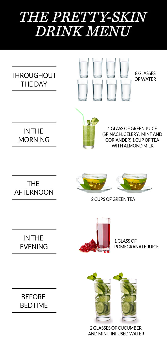 The 24 Hr. Drinks Menu For Your Prettiest Skin - 1