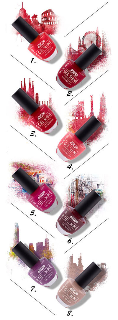 Travel The World With Nykaa Salon Shine Gel Nail Lacquer| 1