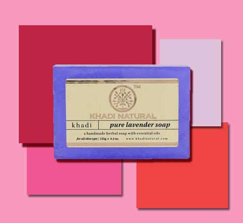best bathing soap- Khadi Lavender Soap
