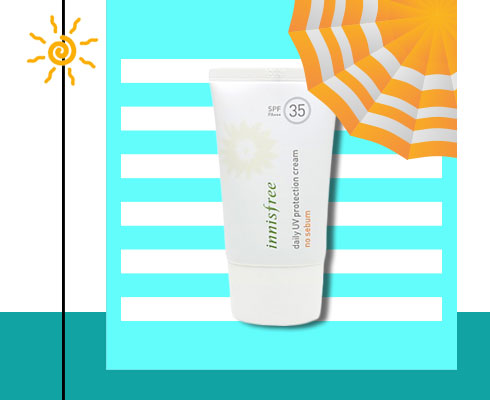 Best sunscreen for oily Skin- Innisfree Daily Uv Protection Cream No Sebum Spf35 Pa+++