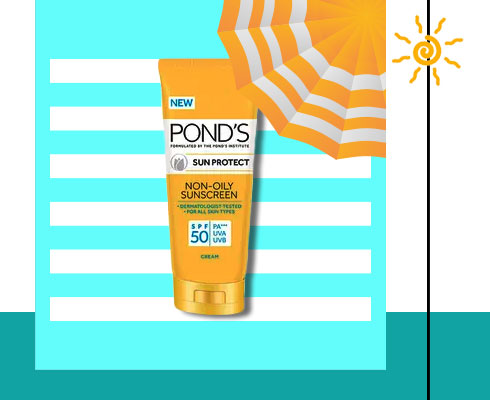 Best sunscreen in India- Ponds Sun Protect Non-Oily Sunscreen Spf 50