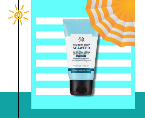 sunscreen for oily acne prone skin- The Body Shop Seaweed Oil Control Lotion Spf 15 Pa++