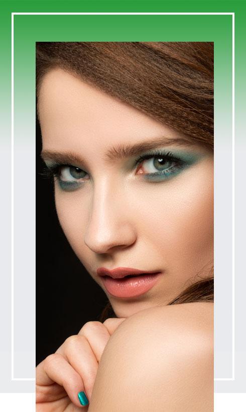 Navratri Makeup Look- Green Color