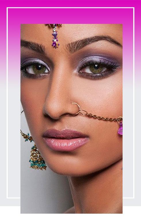 Navratri Makeup Look- Purple Color