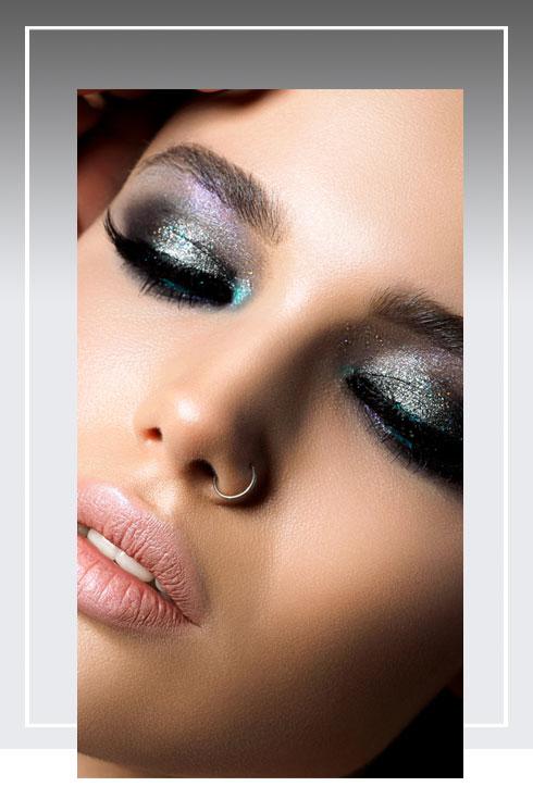 Navratri Makeup Look- Grey Color