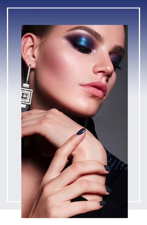 Navratri Makeup Look- Royal Blue Color