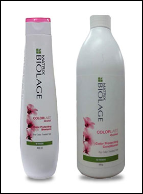 colored hair care- best shampoo for colored hair (Biolage)