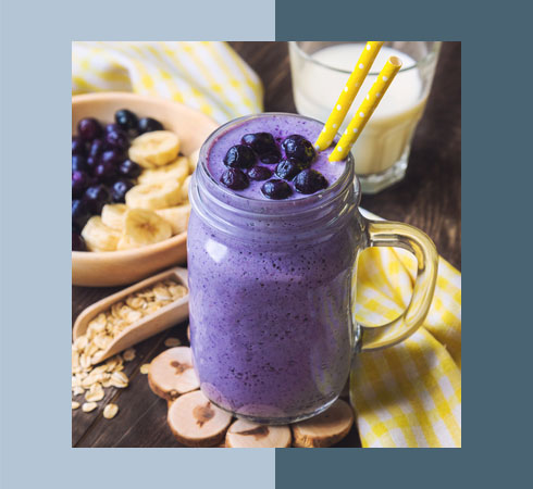 Food For Glowing Skin- Blueberry Smoothie