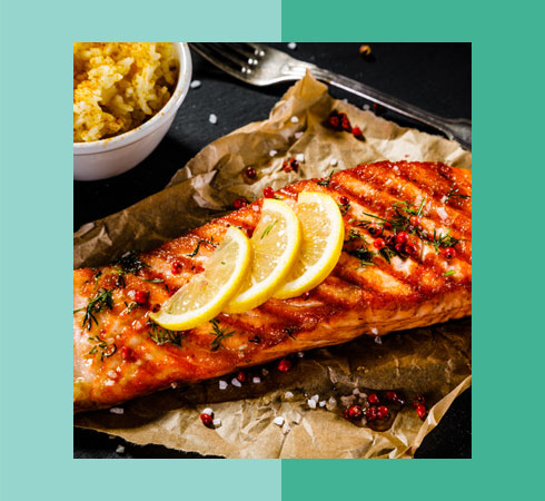 Food For Glowing Skin- Grilled Salmon
