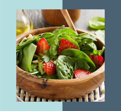 Food For Glowing Skin- Spinach Salad