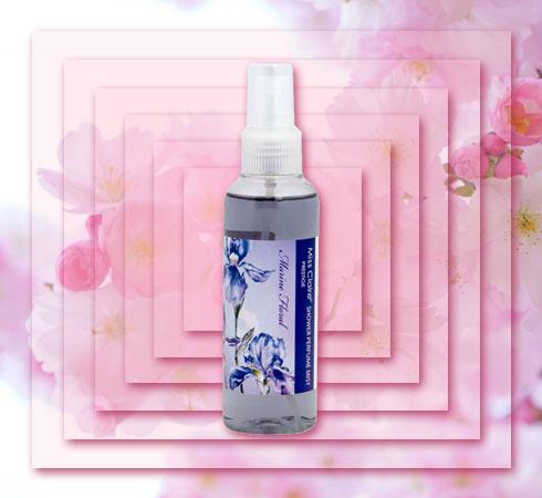 best floral body mist- Miss Claire Shower Perfume Mist