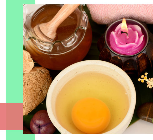 home remedies to remove blackheads- egg and honey mask