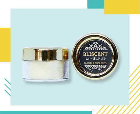 Best Lip Scrubs- Bliscent cake frosting lip scrub