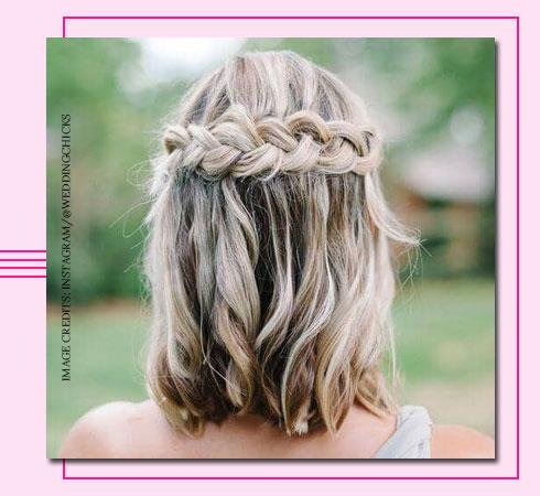 braided hairstyle- crossover braid