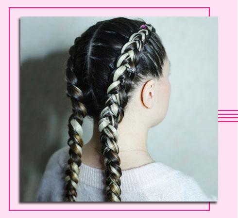 braided hairstyle- boxer braid
