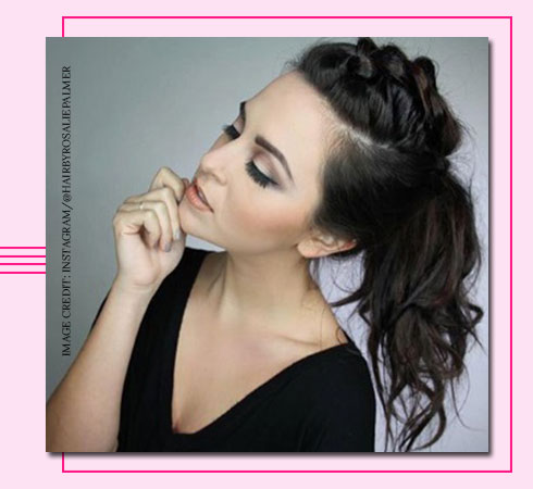 braided hairstyle for medium hair