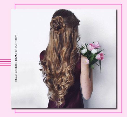 Flower braid hairstyle