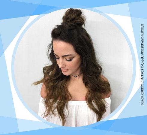 Easy Hairstyles For Long Hair - Manbun