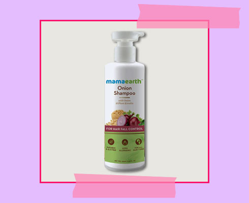 best shampoo to prevent hair fall - Mamaearth Onion Hair Fall Control Shampoo