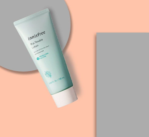 moisturizer for acne prone skin- Innisfree Bija Trouble Lotion