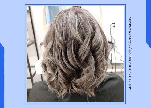 Grey Hair Highlights on Blonde Hair