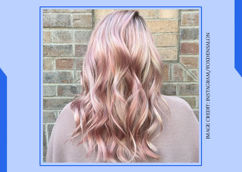 Rose Gold and Grey Highlights
